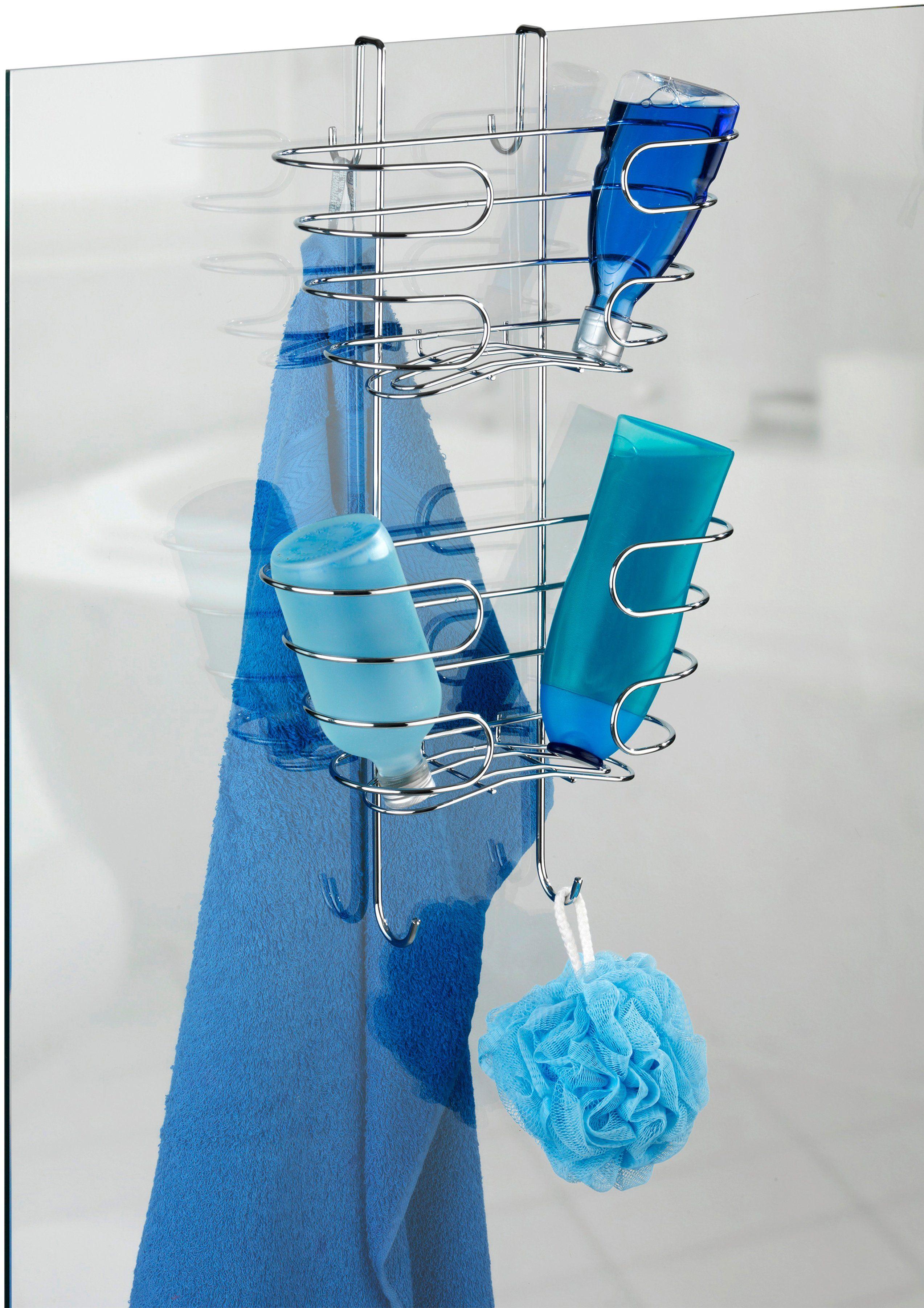 WENKO Duschablage »Shampoo-Ablage«, 2 Etagen, Edelstahl rostfrei