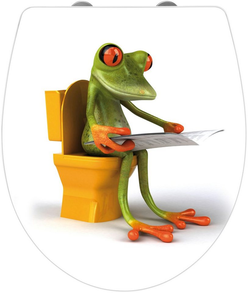 WC-Sitz »Frog News«, Mit Absenkautomatik in bunt/weiß
