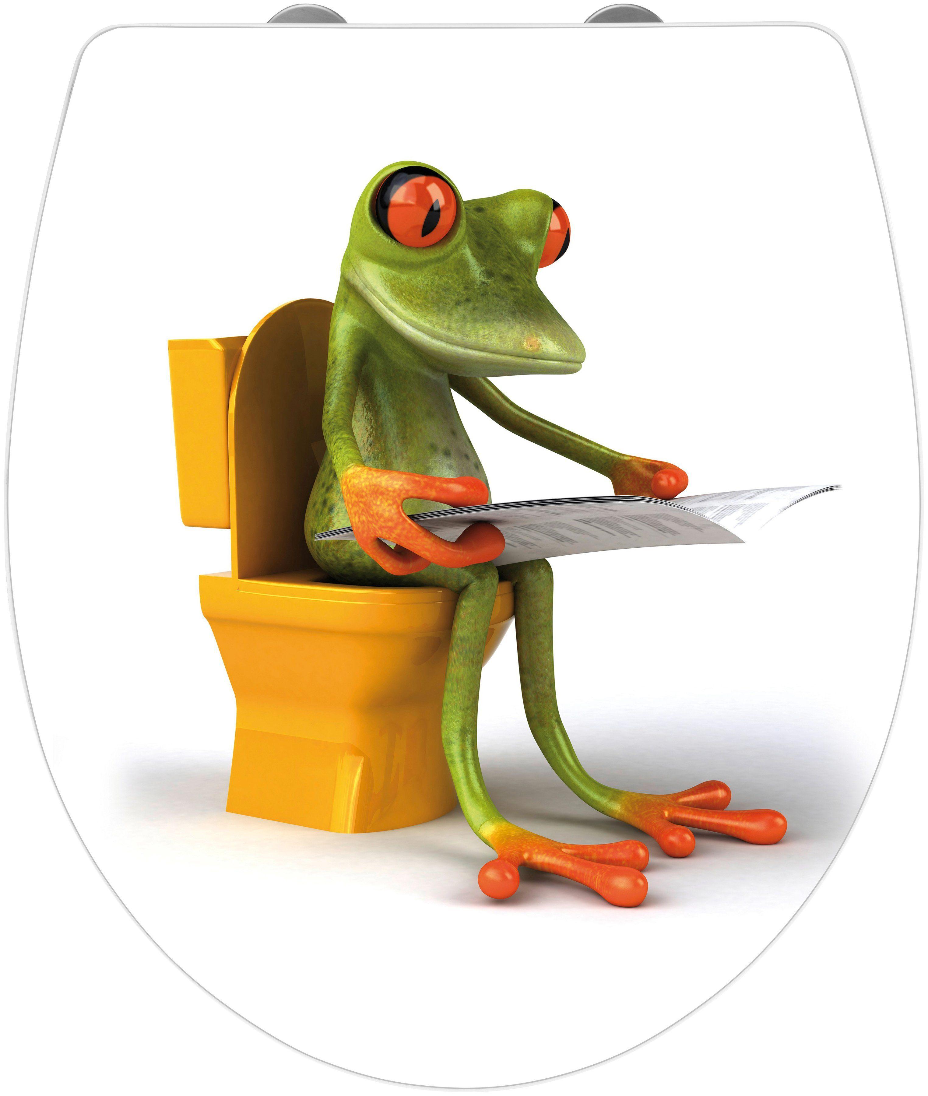 Wenko WC-Sitz »Frog News«, Mit Absenkautomatik