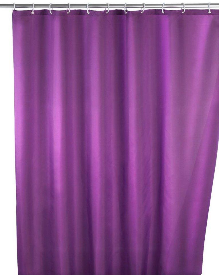 WENKO Duschvorhang »Uni Purple«, Breite 180 cm in lila