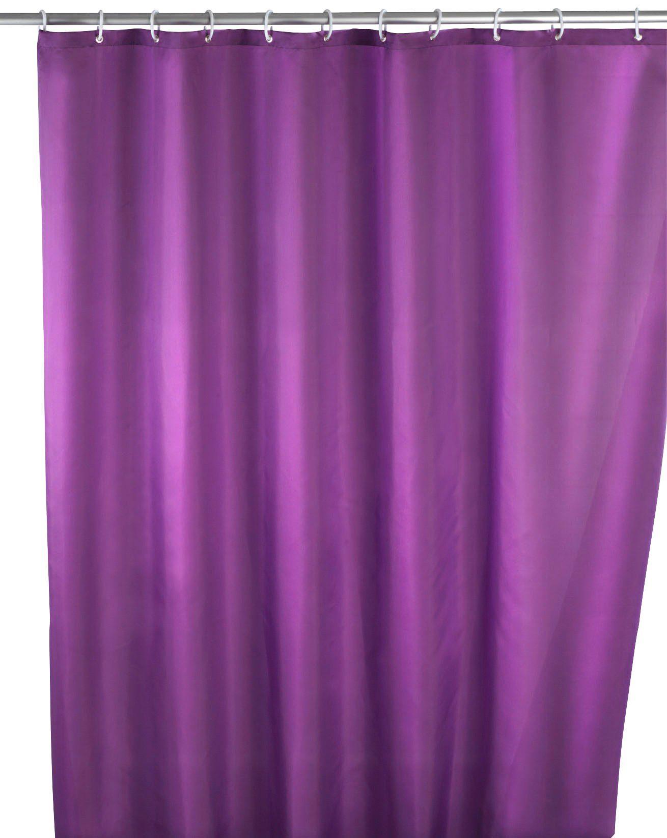 WENKO Duschvorhang »Uni Purple«, Anti-Schimmel, 180 x 200 cm, waschbar