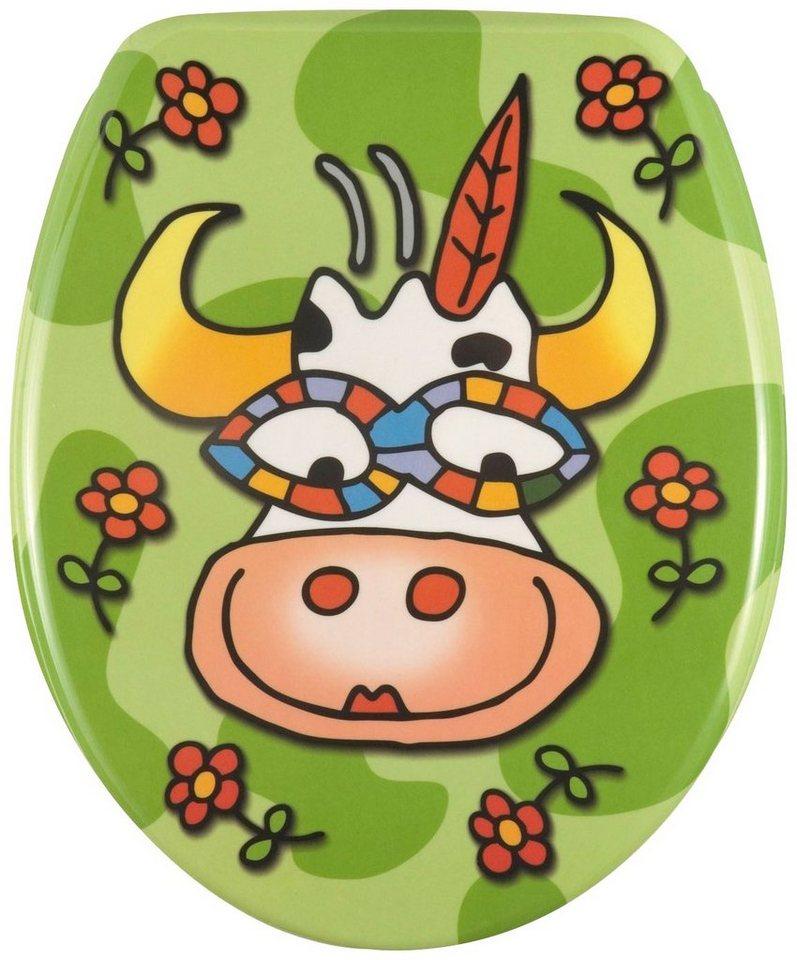 WC-Sitz »Crazy Cow« in bunt