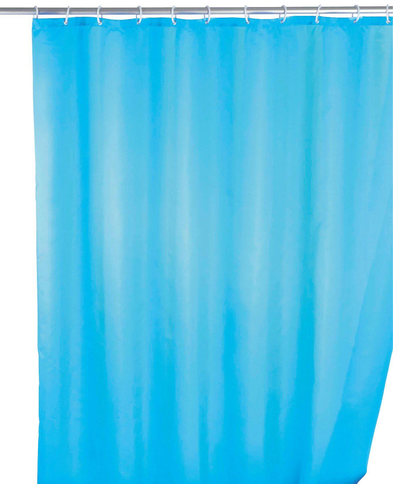 WENKO Duschvorhang »Uni Light Blue«, Breite 180 cm