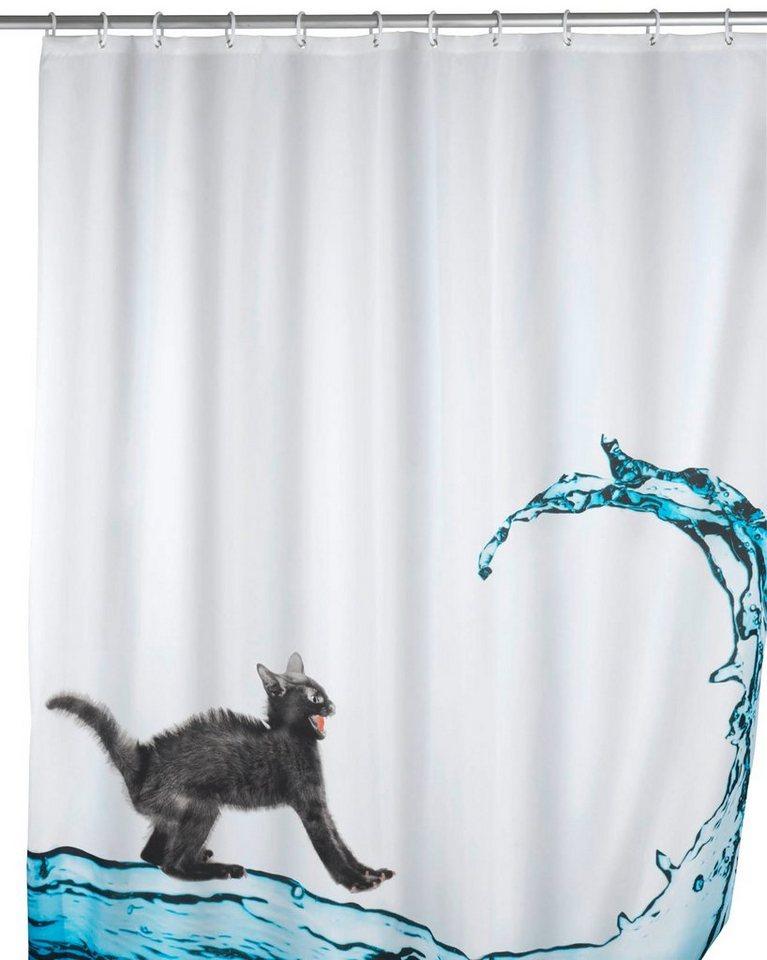 WENKO Duschvorhang »Cat«, Breite 180 cm in bunt