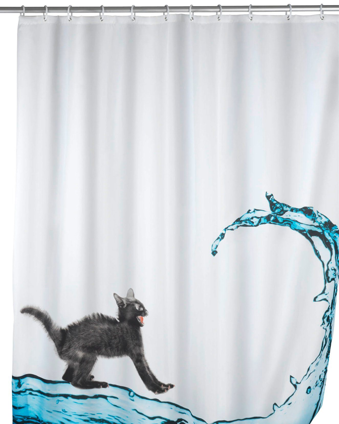 WENKO Duschvorhang »Cat«, Anti-Schimmel, 180 x 200 cm, waschbar