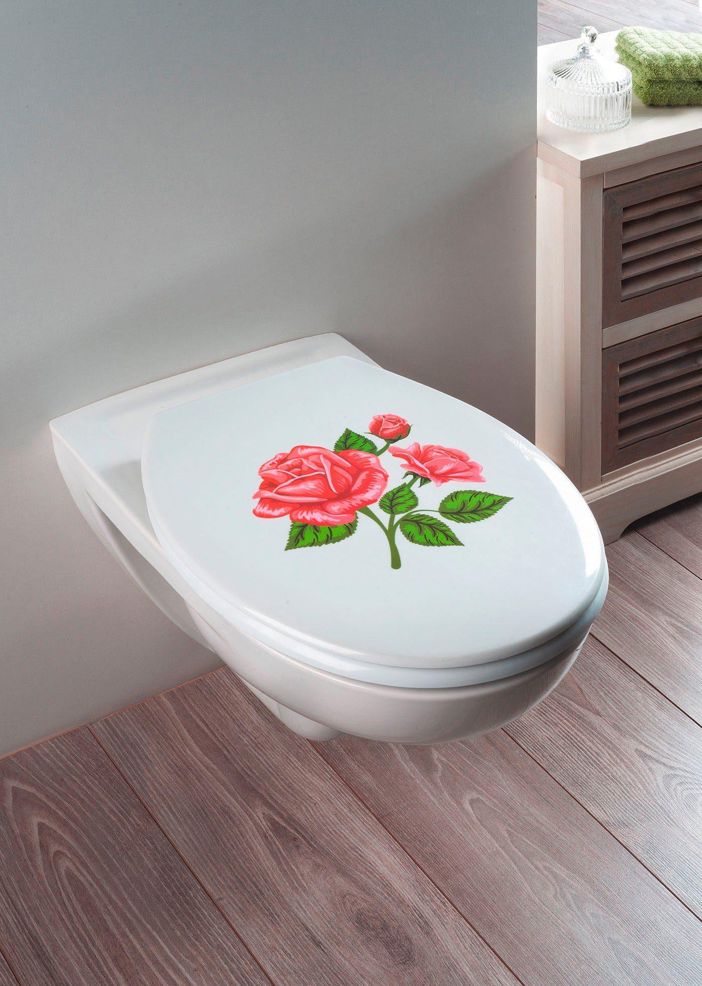 Wenko WC-Sitz »Rosen-Romantik«