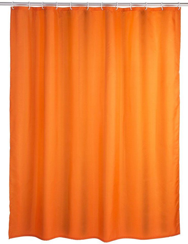 WENKO Duschvorhang »Uni Orange«, Breite 180 cm in orange