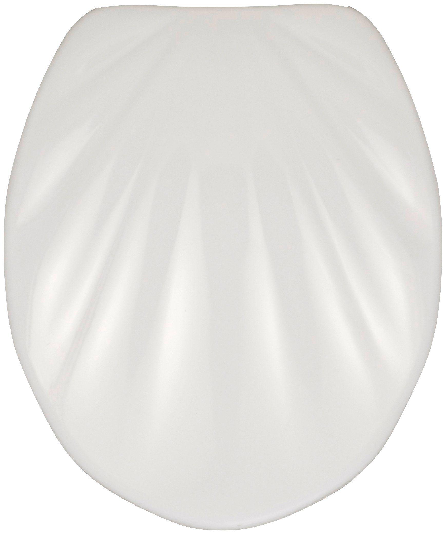 Wenko WC-Sitz »Muschel«, Mit Absenkautomatik