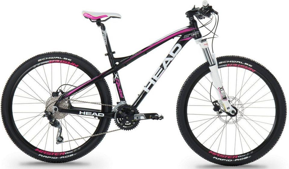 Head Hardtail Mountainbike, 27,5 Zoll, 30 Gang Shimano-Deore-Kettenschaltung, Damen, »X-Rubi Lady« in schwarz-pink matt