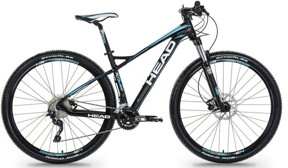 Head Hardtail Mountainbike, 27,5 Zoll, 20 Gang Shimano-Deore Kettenschaltung, »X-Rubi III« in schwarz blau matt