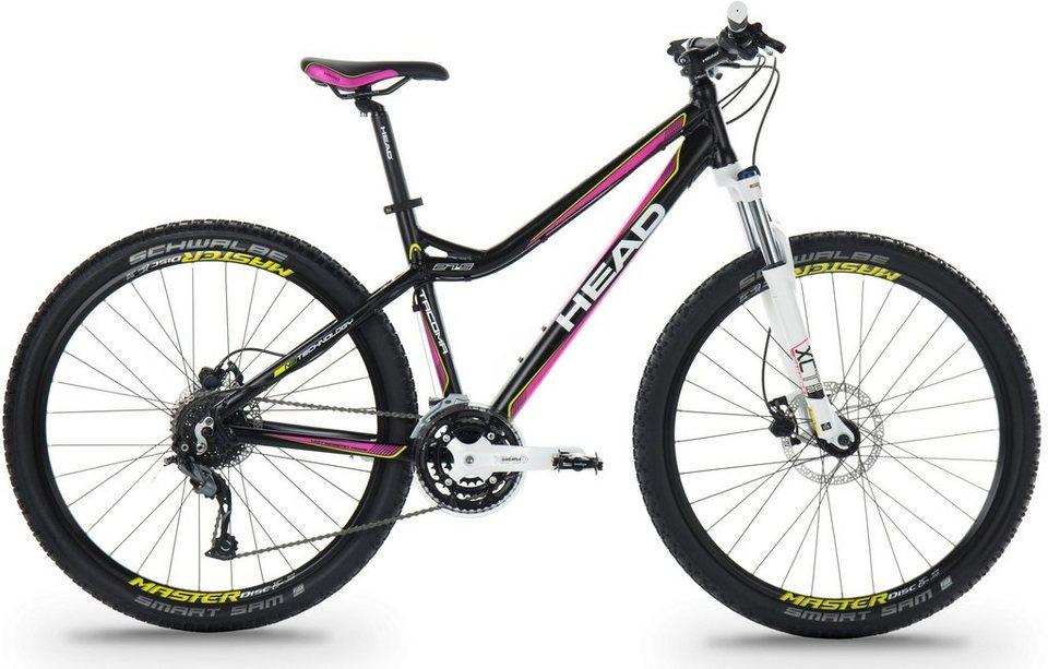 Head Hardtail Mountainbike, 27,5 Zoll, 27 Gang Shimano-Kettenschaltung, Damen, »Tacoma II« in schwarz pink matt