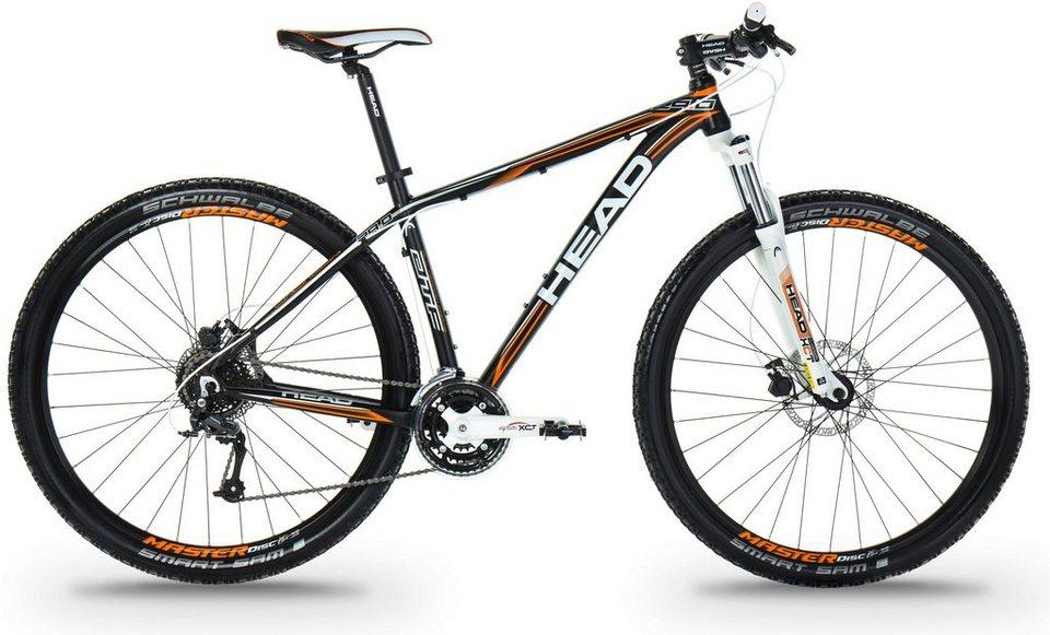 Head Hardtail Mountainbike, 29 Zoll, 24 Gang Shimano Kettenschaltung, »Granger I« in schwarz orange matt