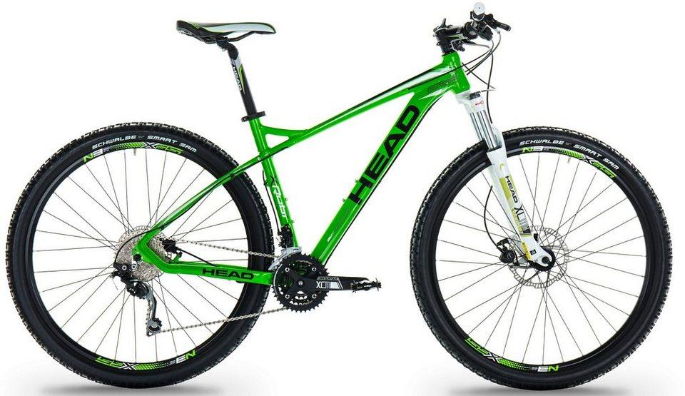 Head Hardtail Mountainbike, 27,5 Zoll, 30 Gang Shimano-Deore Kettenschaltung, »X-Rubi II« in neon grün