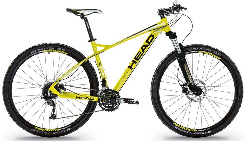 Head Hardtail Mountainbike, 27,5 Zoll, 27 Gang Shimano Kettenschaltung, »X-Rubi I« in neongelb schwarz