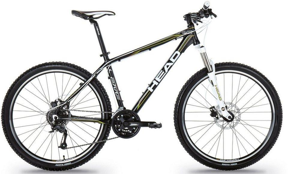 Head Hardtail Mountainbike, 27,5 Zoll, 24 Gang Shimano Kettenschaltung, »Troy II« in schwarz grün matt