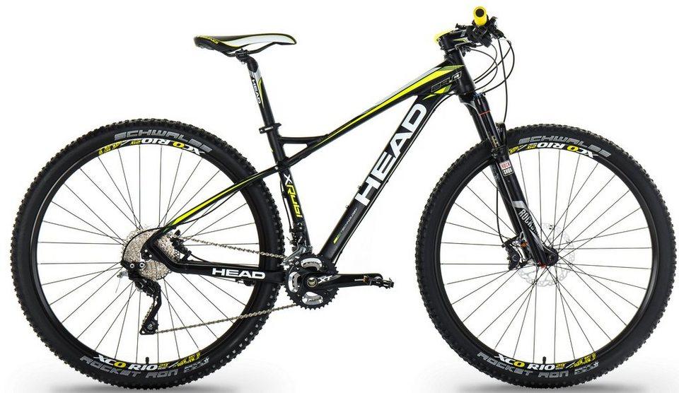 Head Hardtail Mountainbike, 27,5 Zoll, 20 Gang Shimano-XT Kettenschaltung, »X-Rubi IV« in schwarz gelb matt