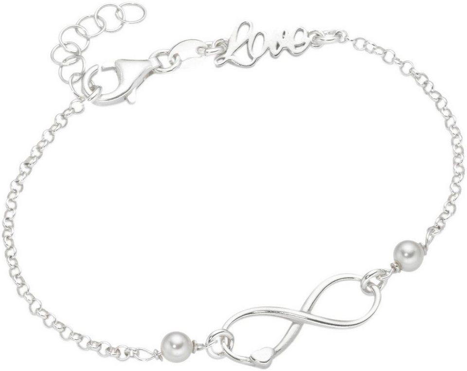 firetti Armkette mit Glasperlen, »Infinity« in Silber 925-weiß