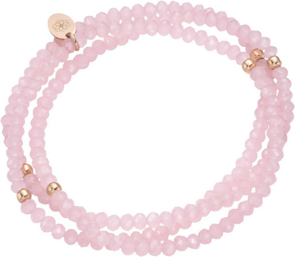 firetti Armband zum Wickeln mit Kristallsteinen in Silber 925-roségoldfarben vergoldet-rosé