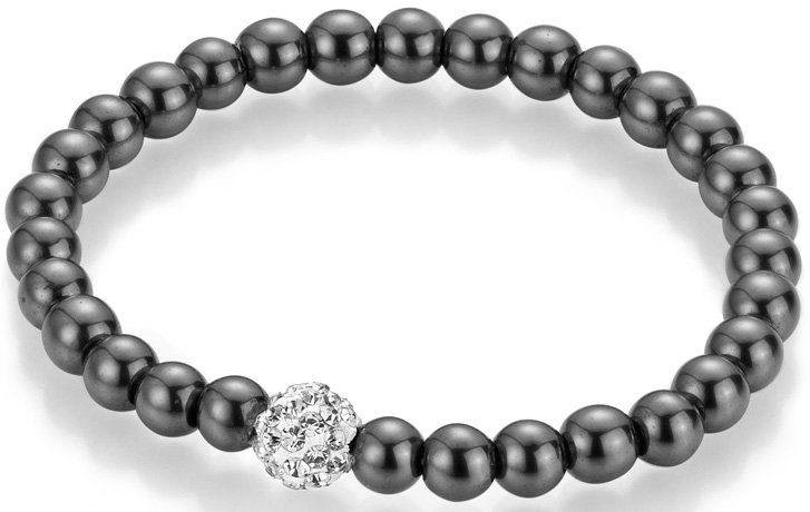 firetti Armband mit Hämatiten und Kristallsteinen