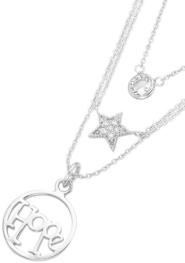 firetti Kette mit Anhänger, »Solitär Stern Hope« in Silber 925