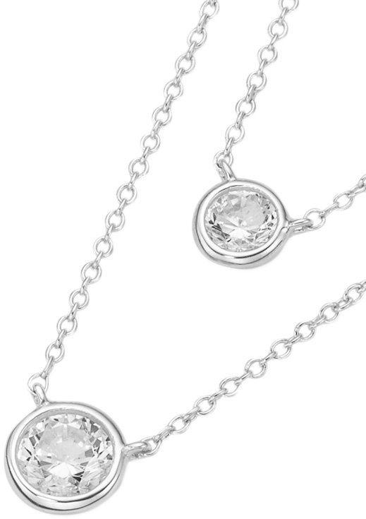 firetti Kette mit Anhänger mit Zirkonia in Silber 925