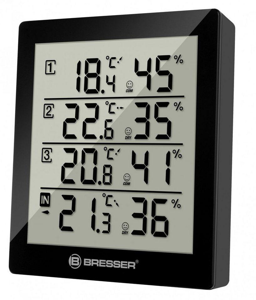 BRESSER Thermometer »Temeo Hygro Quadro - 4x Thermo- und Hygrometer« in schwarz