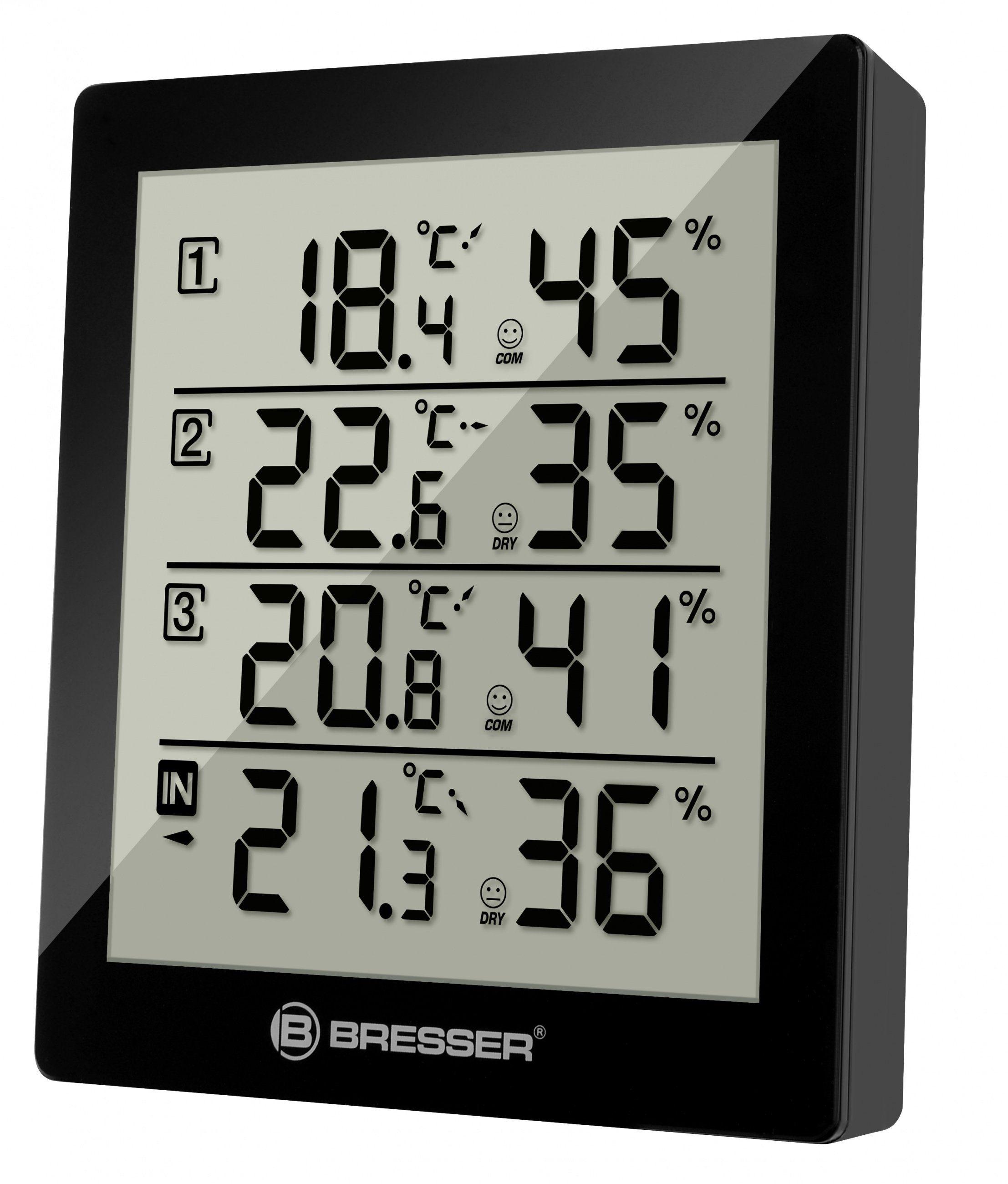 BRESSER Thermometer »Temeo Hygro Quadro - 4x Thermo- und Hygrometer«