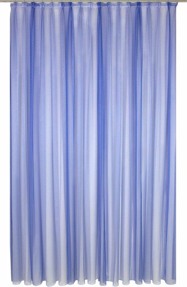 Gardine, WIRTH, »Eloise«, mit Faltenband, nach Maß in blau
