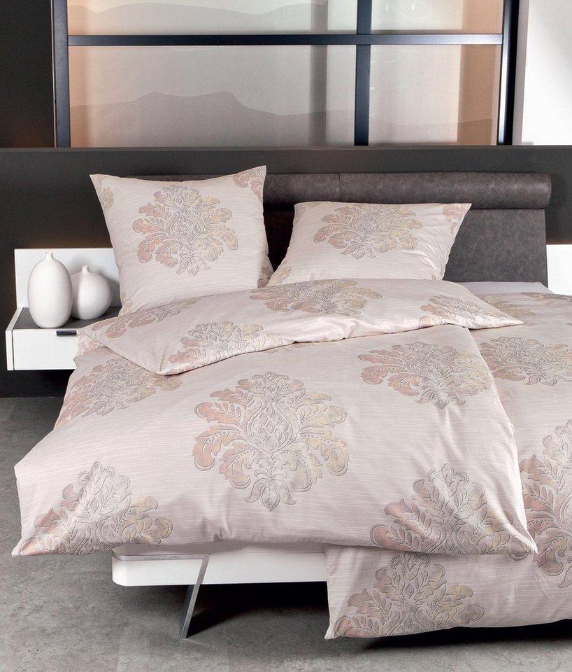 Bettwäsche, Janine, »Ornament Stripe«, edles Design in rosé