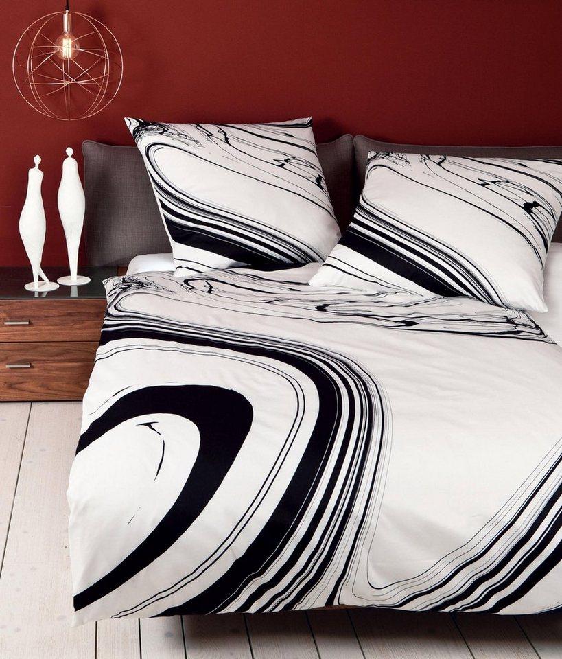 Bettwäsche, Janine, »Kunstwerk«, In modernem Design in schwarz-weiß