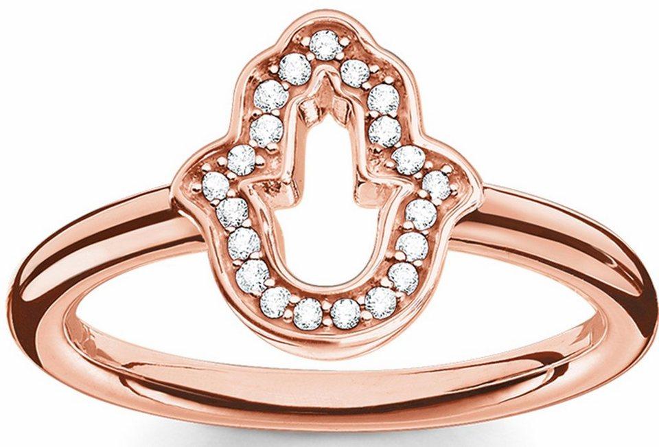 Thomas Sabo Silberring »Ring, TR2076-416-14-50, 54, 58, 60« mit Zirkonia in roségoldfarben