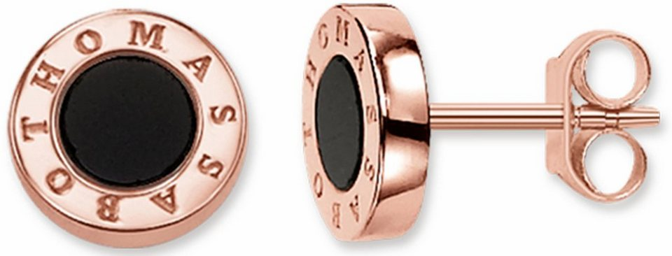 Thomas Sabo Paar Ohrstecker »H1859-693-11« mit Onyx in roségoldfarben