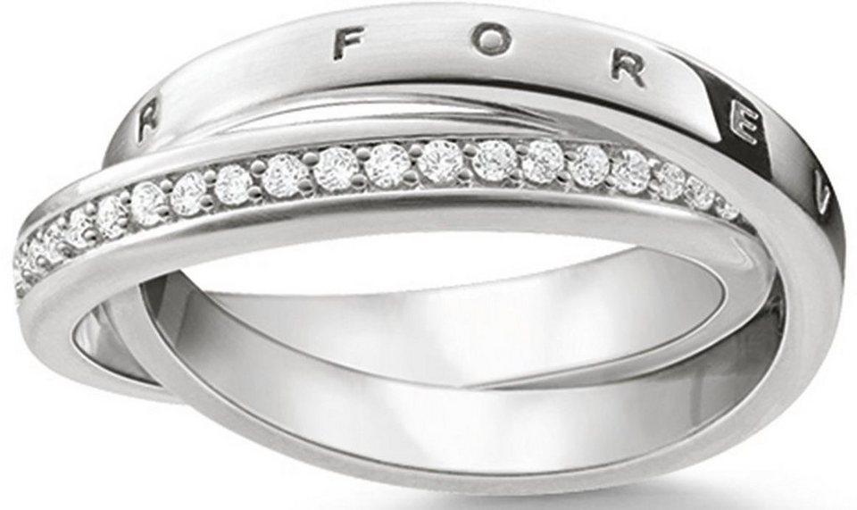 Thomas Sabo Silberring »Ring, TR2099-051-14-50, 54, 58, 60« mit Zirkonia in Silber 925