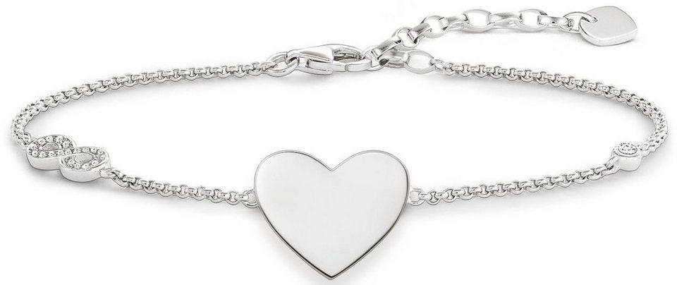 Thomas Sabo Silberarmband »Armband, A1486-051-14-L19,5v« mit Zirkonia in Silber 925