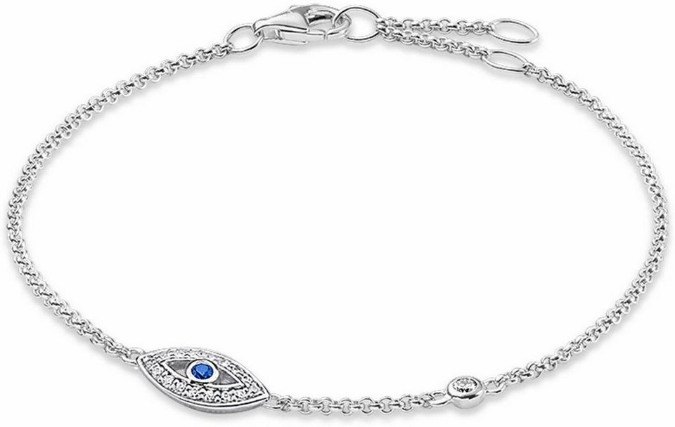 Thomas Sabo Silberarmband »Armband, A1383-412-32-L19,5v« mit Zirkonia und synthetischem Spinell in Silber 925
