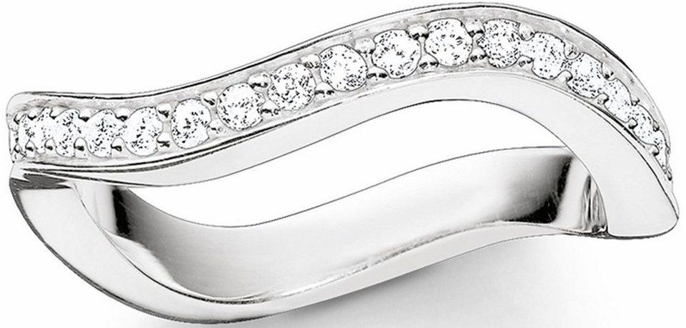 Thomas Sabo Silberring »Ring, TR2010-051-14-50, 54, 58, 60« mit Zirkonia in Silber 925