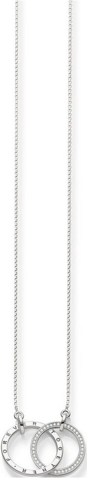 Thomas Sabo Silberkette »Kette, KE1489-051-14-L60v« mit Zirkonia in Silber 925