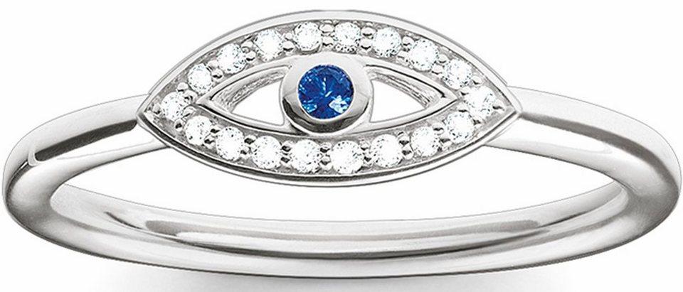 Thomas Sabo Silberring »Ring, TR2075-412-32-50, 54, 58, 60« mit Zirkonia und synthetischem Spinell in Silber 925