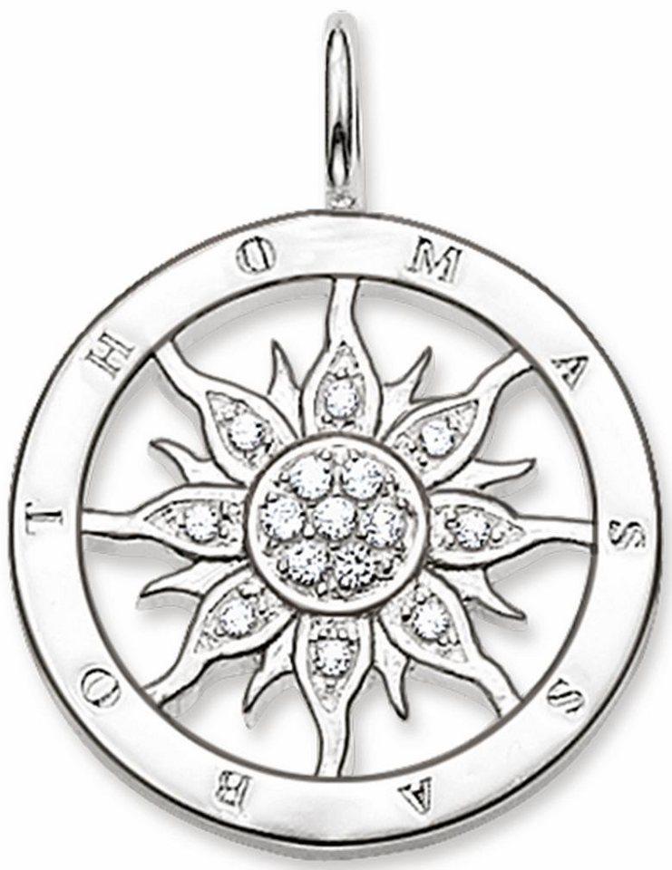 Thomas Sabo Sonnenanhänger »Anhänger, PE449-051-14« mit Zirkonia in Silber 925