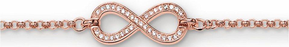 Thomas Sabo Silberarmband »Armband, A1310-416-14« mit Zirkonia in roségoldfarben