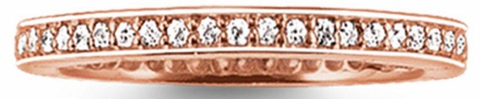 Thomas Sabo Silberring »Ring, TR1983-416-14-50, 54, 58, 60« mit Zirkonia in roségoldfarben