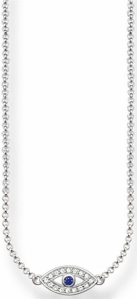 Thomas Sabo Collier »Colliers, KE1385-412-32-L42v« mit Zirkonia und synthetischer Spinell in Silber 925