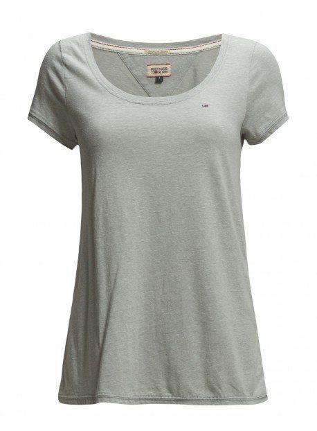Hilfiger Denim T-Shirts (mit Arm) »Leena sn knit s/s KIR« in LT GREY