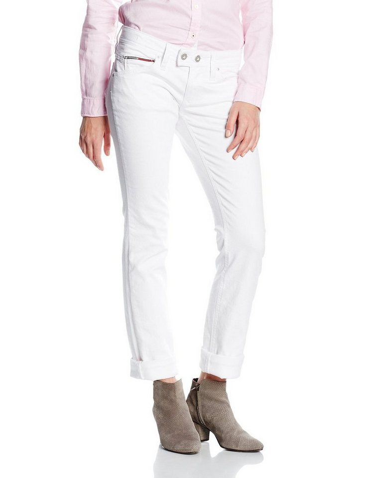 Hilfiger Denim Jeans »Low Rise Straight Vicky WHST« in WHITE STRETCH