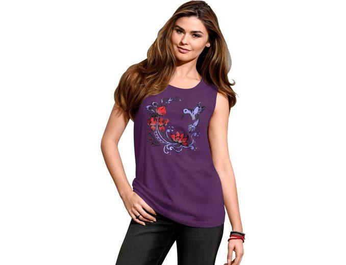 Classic Basics Shirttop mit Rundhals-Ausschnitt Fabrikpreis Perfekt cs1JXmuOM