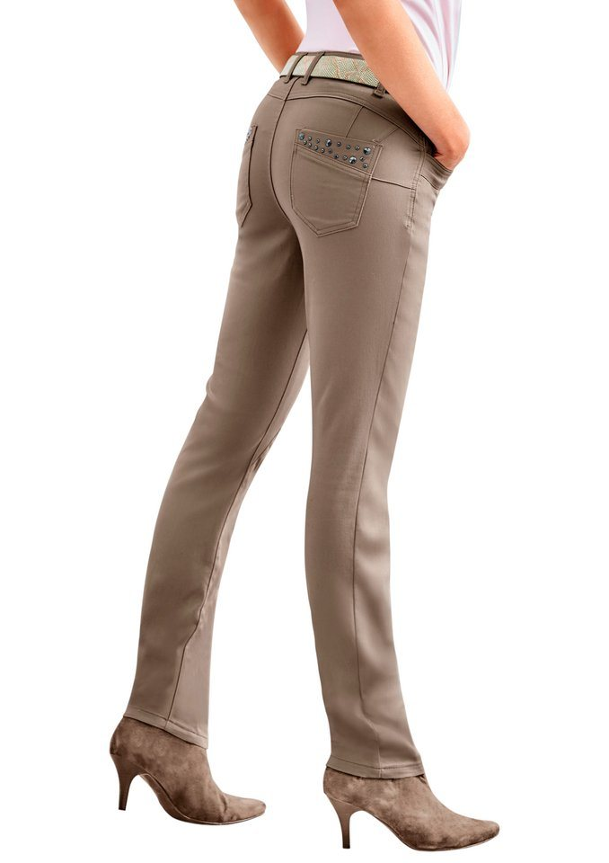 Classic Inspirationen Jeans in 5-Pocket-Form in taupe
