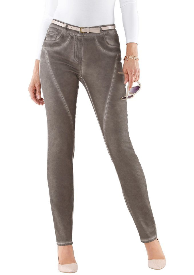 Classic Inspirationen Hose in beliebter 5-Pocket-Form in taupe