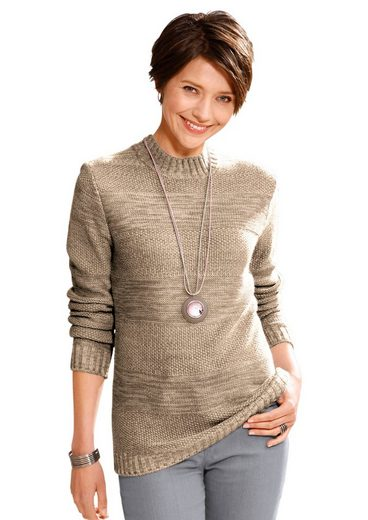 Collection L. Pullover aus weichem Melange-Garn