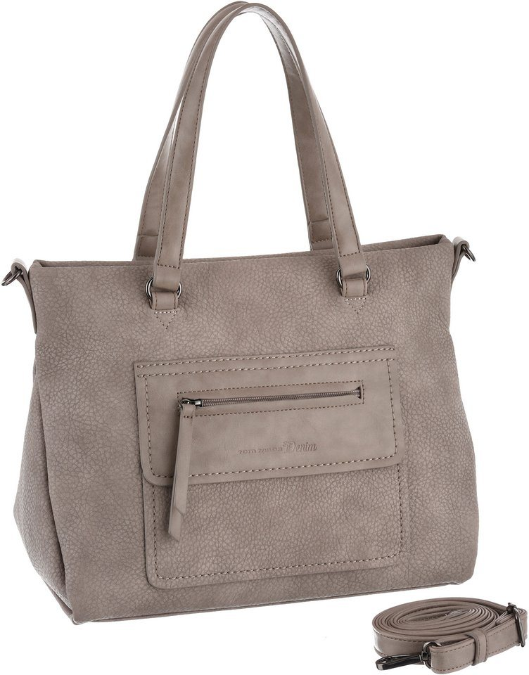 Tom Tailor Denim Henkeltasche »NOMY« in stone