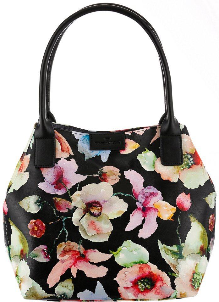 Tom Tailor Shopper »MIRI FLOWER« in schwarz-flowers